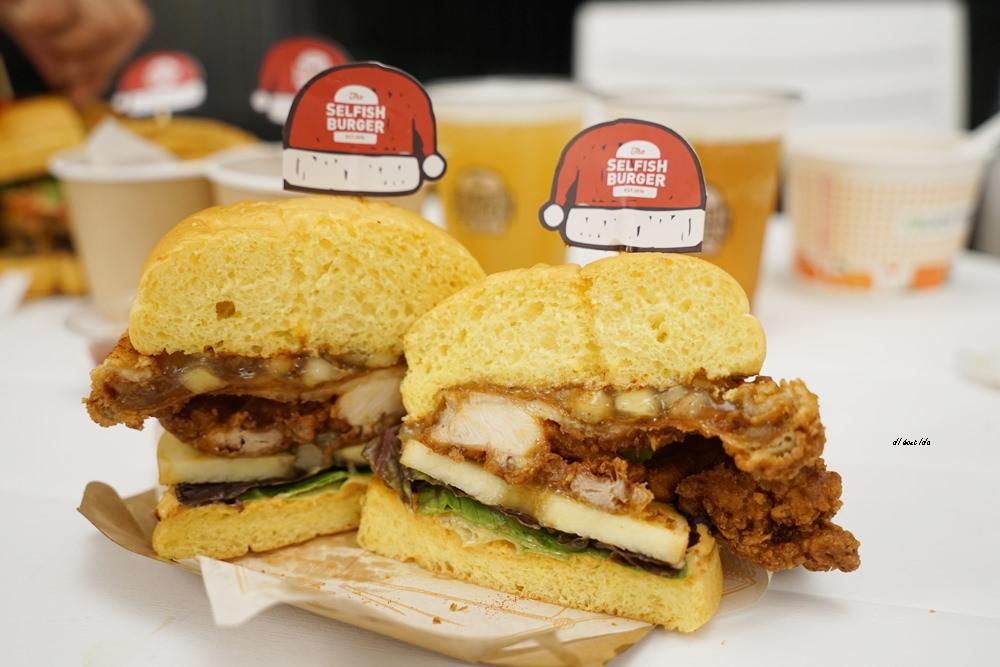 20171226182119 1 - 熱血採訪│台中UNO貨櫃市集 Selfish Burger喀漢堡 牛排等級的漢堡肉