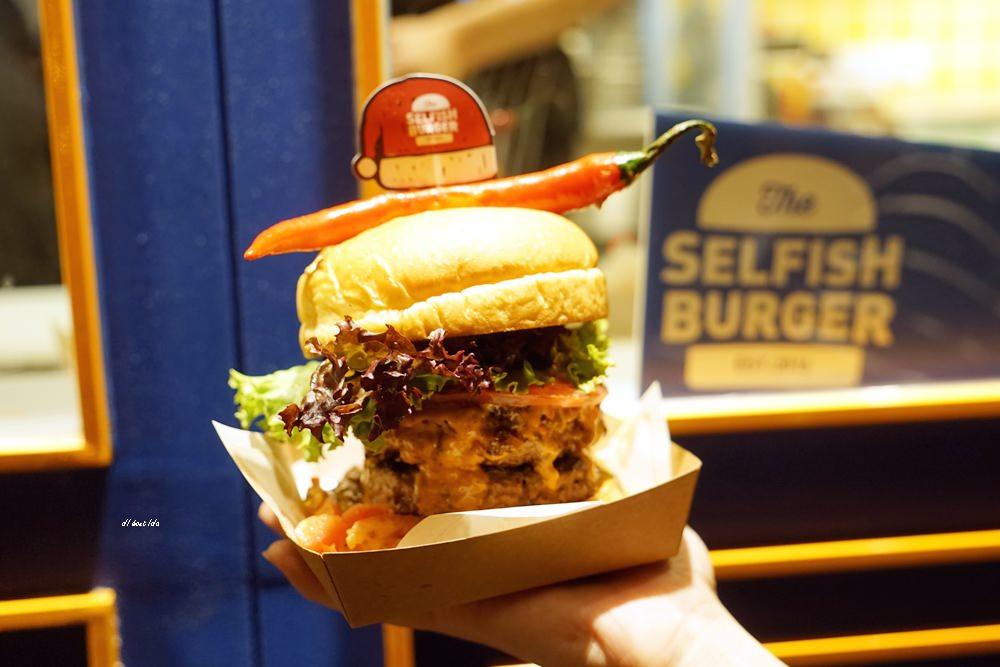 20171227104952 2 - 熱血採訪│台中UNO貨櫃市集 Selfish Burger喀漢堡 牛排等級的漢堡肉