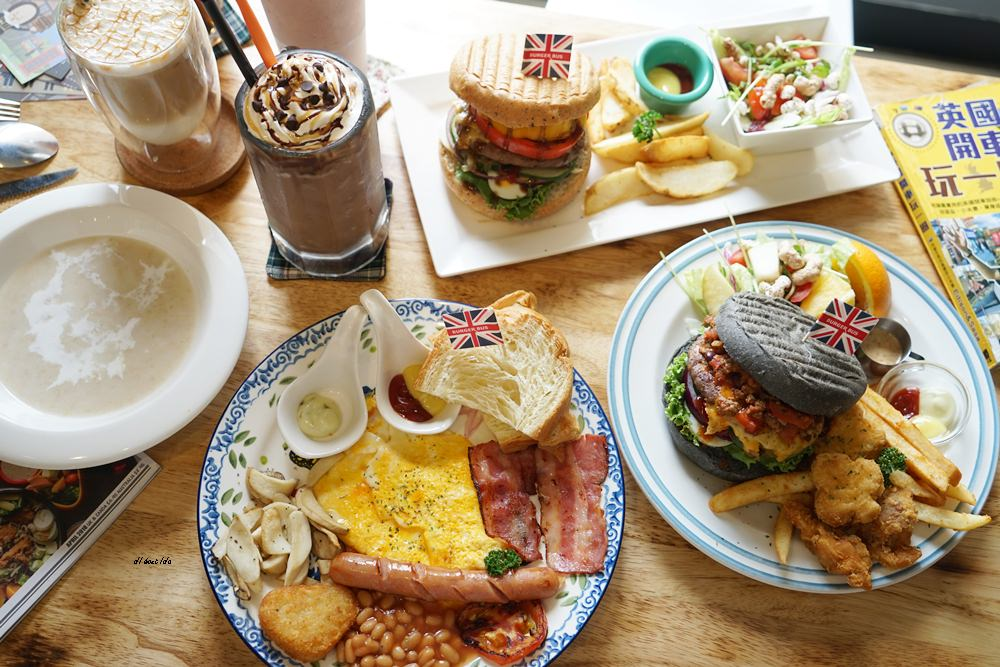 20180629093325 59 - 熱血採訪︱漢堡巴士 清爽的英式漢堡 道地英倫風格的好吃早午餐